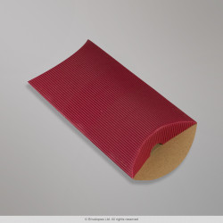 162x114+30 mm (C6) Red Corrugated Pillow Box