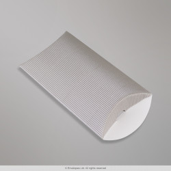 162x114+30 mm (C6) Silver Corrugated Pillow Box