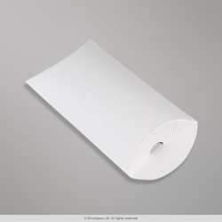 162x114+30 mm (C6) White Corrugated Pillow Box