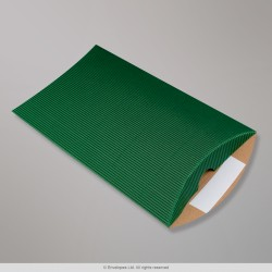 229x162+30 mm (DL) Dark Green Corrugated Pillow Box