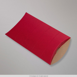 229x162+30 mm (C5) Red Corrugated Pillow Box