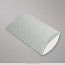 229x162+30 mm (C5) Silver Corrugated Pillow Box