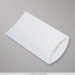 229x162+30 mm (C5) White Corrugated Pillow Box