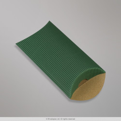 113x81+30 mm Dark Green Corrugated Pillow Box