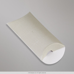 113x81+30 mm (C7) Silver Corrugated Pillow Box