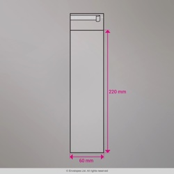 220x60 mm Clear Cello Bag
