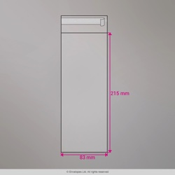 215x83 mm Clear Cello Bag