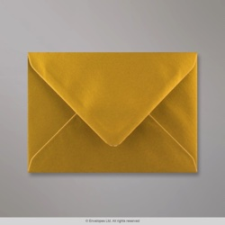 114x162 mm (C6) Metallic Gold Envelope, Metallic Gold, Gummed