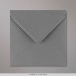 140x140 mm Dark Grey Gummed Envelope
