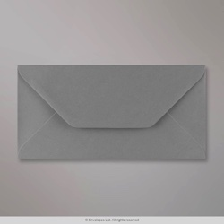 110x220 mm (DL) Dark Grey Envelope, Dark Grey, Gummed