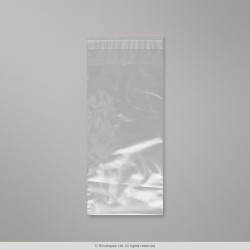 230x115 mm Clear Polyethylene Bag, Clear, Peel and Seal