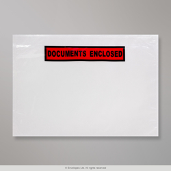 229x162 mm (C5) Clear Documents Enclosed Wallet - Printed