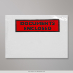 81x113 mm (C7) Clear Documents Enclosed Wallet - Printed