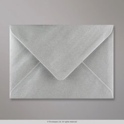 125x175 mm Metallic Silver Envelope, Metallic Silver, Gummed
