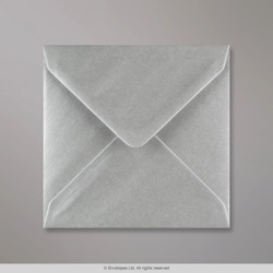 130x130 mm Metallic Silver Envelope, Metallic Silver, Gummed