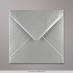 140x140 mm Metallic Silver Envelope