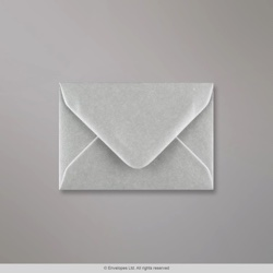 70x100 mm Metallic Silver Envelope, Metallic Silver, Gummed