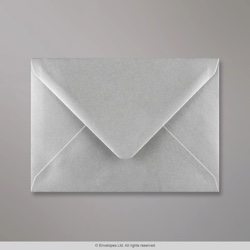 114x162 mm (C6) Metallic Silver Envelope