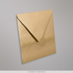 160x160 mm Gold Mirror Finish Envelope, Gold, Gummed