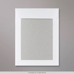241x178 mm White Board-Back Envelope, White, Peel and Seal