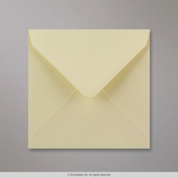 130x130 mm Cream Envelope, Cream, Gummed