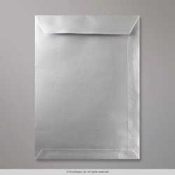 324x229 mm (C4) Silver Envelope, Silver, Peel and Seal