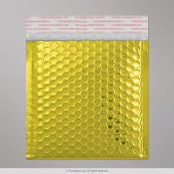 165x140 mm Gold Gloss Metallic Bubble Bag