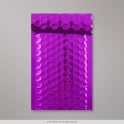 165x85 mm Purple Gloss Metallic Bubble Bag