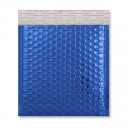 165x165 mm Blue Gloss Metallic Bubble Bag