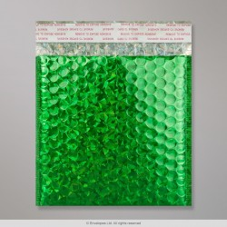 165x165 mm Holographic Green Metallic Bubble Bag