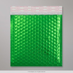 165x165 mm Green Gloss Metallic Bubble Bag