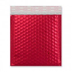 165x165 mm Red Gloss Metallic Bubble Bag