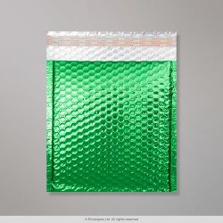 235x205 mm Green Gloss Metallic Bubble Bag