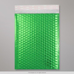 250x180 mm Green Gloss Metallic Bubble Bag