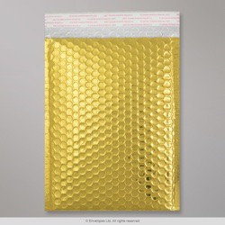 250x180 mm Gold Gloss Metallic Bubble Bag
