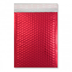 250x180 mm Red Gloss Metallic Bubble Bag