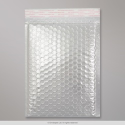 250x180 mm Silver Gloss Metallic Bubble Bag
