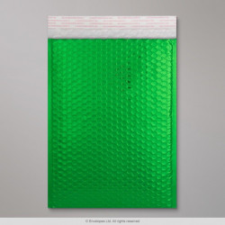 324x230 mm (C4) Green Gloss Metallic Bubble Bag