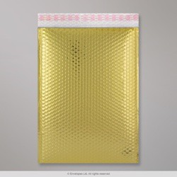 450x320 mm (C3) Gold Gloss Metallic Bubble Bag