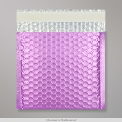 165x165 mm Lilac Metallic Matt Bubble Bag
