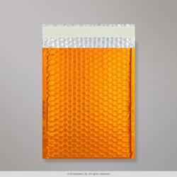 250x180 mm Orange Metallic Matt Bubble Bag