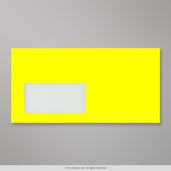 110x220 mm (DL) Neon Yellow Envelope with Window