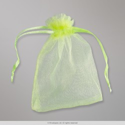 90x70 mm Apple Green Organza Bag