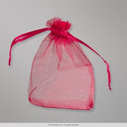 90x70 mm Burgundy Organza Bag