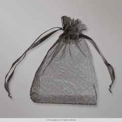 90x70 mm Black Organza Bag