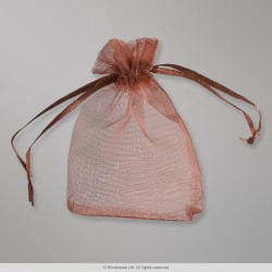 90x70 mm Coffee Organza Bag
