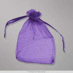 90x70 mm Deep Purple Organza Bag