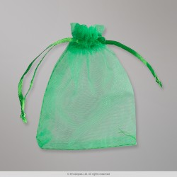 90x70 mm Grass Green Organza Bag