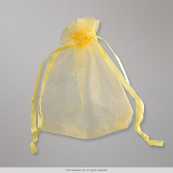 90x70 mm Gold Organza Bag