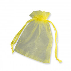 90x70 mm Lemon Yellow Organza Bag